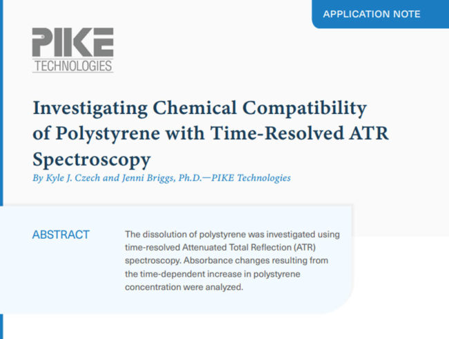 Investigating Chemical Compatibility of Polystyrene with Time-Resolved ATR Spectroscopy